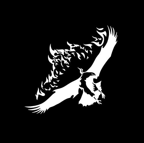 RJSYT 2PCS Autoaufkleber Mode Fliegende Adler Flügel Flammen Aufkleber Auto Aufkleber Vinyl 20 cm * 19,2 cm (Auf Den Flügeln Des Adlers Buch)