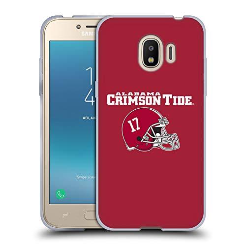 Head Case Designs Offizielle University of Alabama UA Helm Logo Typ Soft Gel Huelle kompatibel mit Samsung Galaxy J2 Pro (2018)