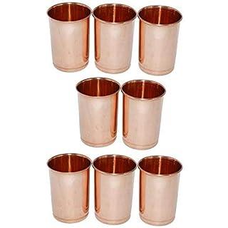 AVS Store Trinken Glas kupfer Glas 100% reines Kupfer Tumbler Gesundheit Heilung von 8