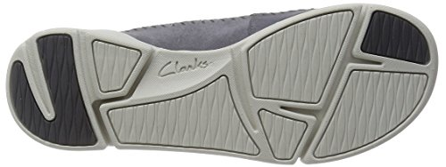 Clarks Tri Angel Damen Low Top Sneakers Grau (Grey/Blue)