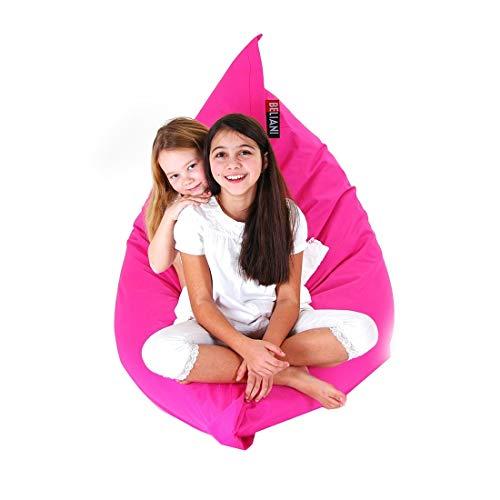Beliani Sitzsack mit Innensack 140 x 180 cm pink