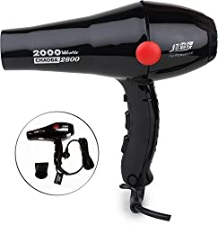 CHAOBA Professional 2800 Hair Dryer 2000W (Black) by Milano International