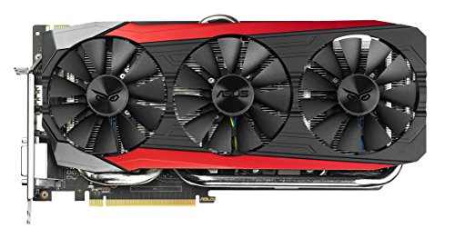 Asus Strix-GTX980TI-DC3-6GD5-GAMING Nvidia GeForce Gaming Grafikkarte (PCIe 3.0 x16, 6GB GDDR5 Speicher, HDMI, DVI, 3x DisplayPort) (Nvidia Geforce 980 Gtx 6gb)