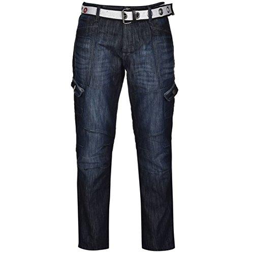 airwalk-mens-belted-cargo-jeans-straight-fit-belt-6-pockets-denim-trousers-pants-dark-wash-40w-r