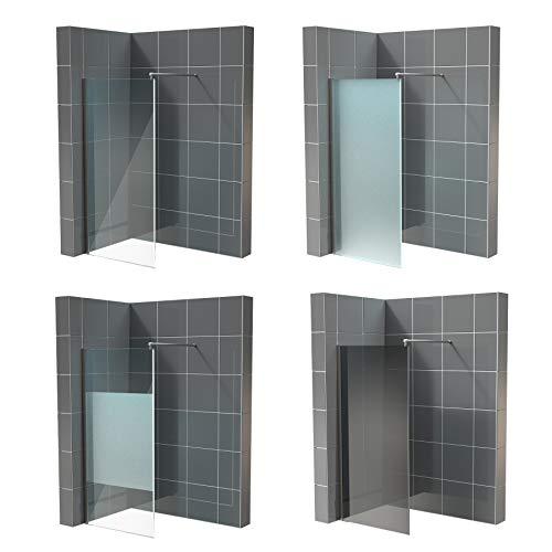 Walk in Dusche Nano ESG 10mm in vielen Designs 2000mm x 1100mm grau Duschabtrennung Duschtrennwand Duschglaswand