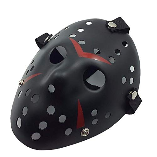 B-Creative Halloween Masken beängstigend Jason Voorhees Horror-Kostüm Blood Creepy Spooky Latex (schwarz Jason Voorhees) (Jason Beängstigend Kostüm)