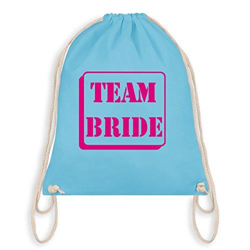 JGA Junggesellinnenabschied - Team Bride - Turnbeutel I Gym Bag Hellblau