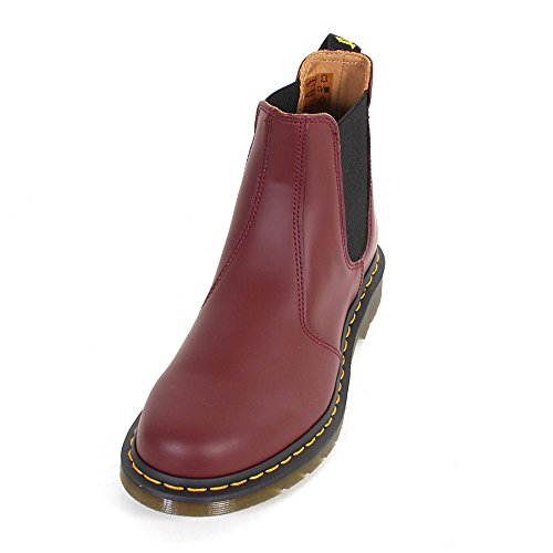 Dr Martens Unisex 2976 Smooth Leather Pull On Chelsea Boot Cherry Red Size 5