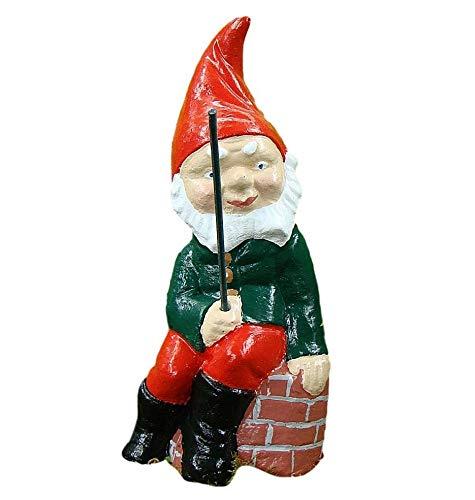 Angeln Gnome ~ Humpty ~ Angeln sitzend auf Mauer
