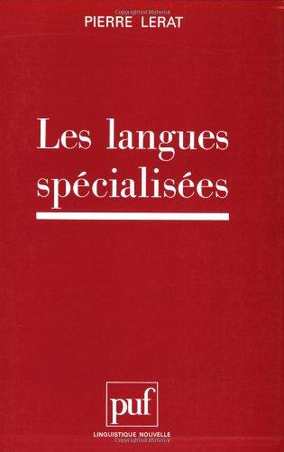 Les langues spécialisées