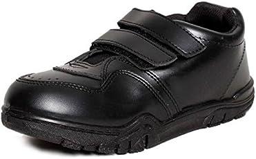 SIM STYLE Boys Bata Velcroo Black School Shoe