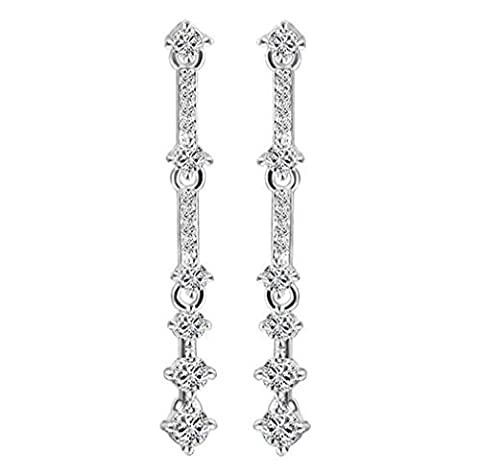 TIZIKJ Femme Sterling Silver Tassel Prevent Allergy Earring Temperament Longue section Pendentif Earringss , platinum
