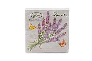 Beautiful Provence Lot de 20 serviettes en Papier 33 x 33 cm - 3 feuilles de découpage Motif Floral Style Shabby Chic