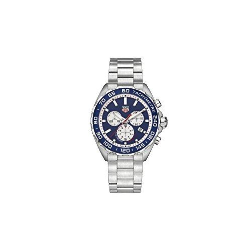 TAG Heuer Men's Formula 1 43mm Steel Bracelet & Case Quartz Blue Dial Analog Watch CAZ1018.BA0842
