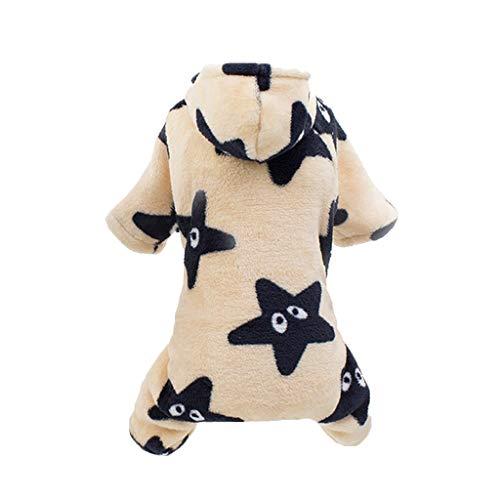 Allegorly Hundekleidung Kapuzenpullover,Plüsch Hundemantel Hundejacke Hundepullover Hoodie Sternendruck Warm Winter Mantel Kostüm Sweatshirt Haustier Kleidung für Kleine Hunde, Welpen, Teddy, (Eisbär Kostüm Für Hunde)
