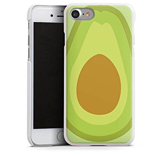 Apple iPhone SE Tasche Hülle Flip Case Avocado Frucht Vegan Hard Case weiß