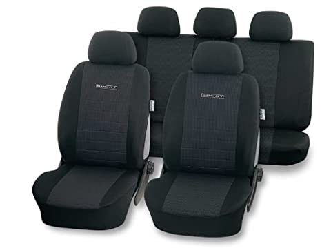 Universal Schonbezug Sitzbezug TQ-SPORT anthrazit für Seat Ibiza (6K,6L,6J), Leon (1P,1M), Toledo (1M,5P)