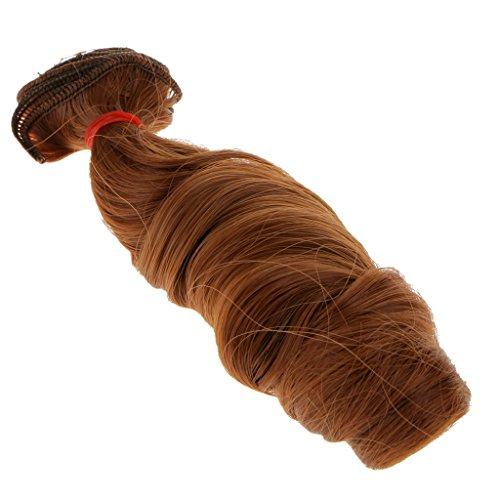 15x100cm DIY Perücke Lockiges Haar hübsche Puppenperücke Für Barbie-Puppen - Brau, ()
