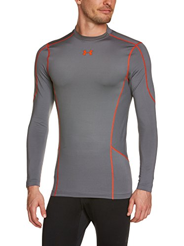 Under Armour Herren Top Evo CG Comp Hybrid, Graphite/Volcano, XL (Freiheit-golf-shirt)
