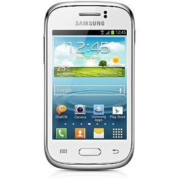 Samsung Galaxy Young S6310N Smartphone (8,1 cm (3,2 Zoll) Touchscreen, Cortex A5, 1GHz, 768MB RAM, 4GB interner Speicher, 3,2 Megapixel Kamera, Android 4.1) weiß