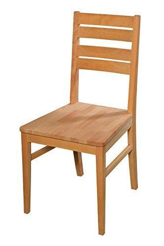 acerto Esszimmerstuhl aus Buche massiv ✓ Geölt ✓ Extrem robust | Holzstuhl für Küche & Esszimmer | Rustikaler Esstisch-Stuhl, Massivholz-Stuhl, Küchenstuhl aus Buche