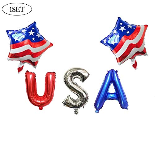 Aisoway Die Stars and Stripes-Folien-Ballone Brief Der USA Independence Day Dekorationen Party Supplies Geburtstag Bälle Für Wohnkultur