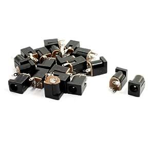 20pièces 2,1x 5,5mm Source d'alimentation Connecteur femelle Connecteur Jack pour PCB