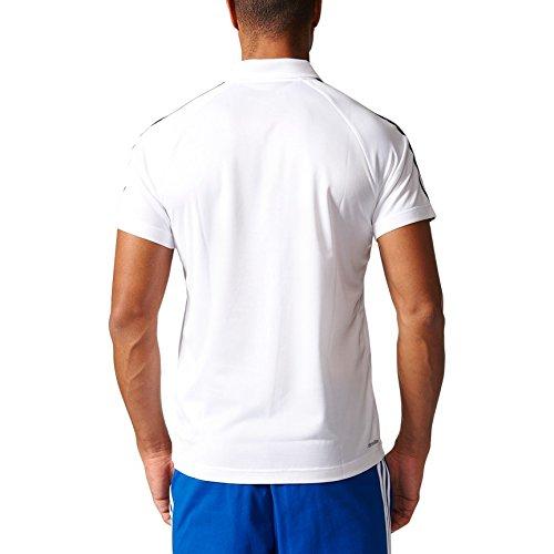 adidas D2M 3S Herren Polo Tennis White