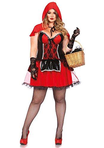 Halloween Kostüme Für 4x (Leg Avenue 85485X - Curvy Rotkäppchen Kostüm, Größe 3X-4X (EUR)