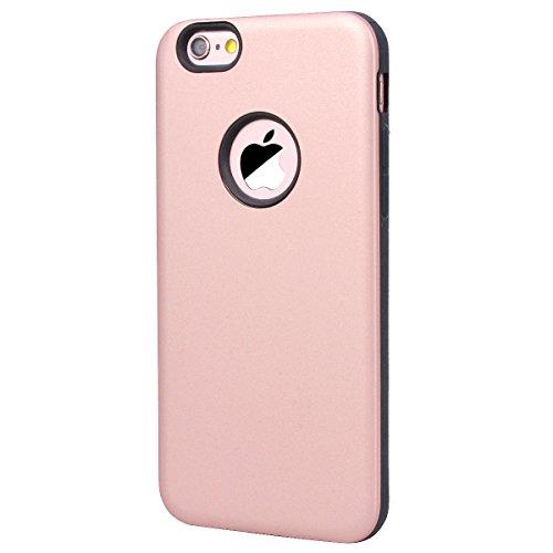 Yokata Cover per iPhone 6S Plus / 6 Plus Custodia per iPhone 6S Plus / 6 Plus gel Silicone Case Durevole TPU Backcover Protettiva Caso Premium Ultra Sottile Bumper Antiurto Protezione Shell + Penna -  Oro rosa