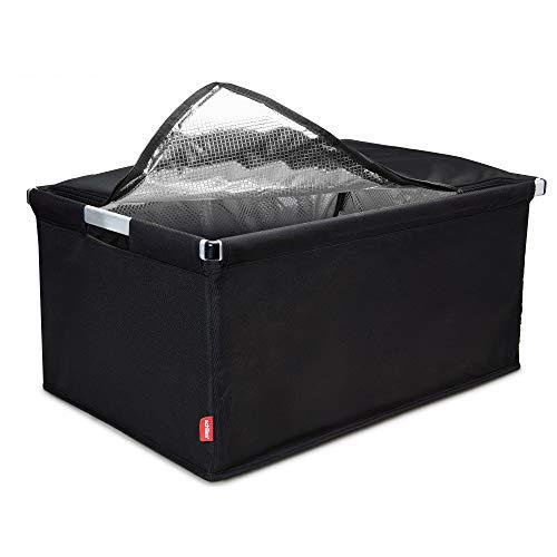 achilles Big-Box Cool, Transportkiste mit Aluminiumrahmen und Kühleinsatz, Einkaufskühlkorb, Kühlbox in schwarz, 60 cm x 40 cm x 30 cm