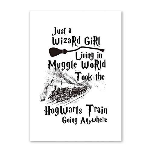LIUYA Klassische Movies Harry Potter Brille Poster & Drucke Moderne Wohnkultur Leinwand Malerei Kunstdruck Wandbild Für Kinder Schlafzimmer