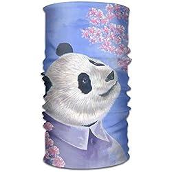 Panda Under The Cherry Tree - Bufanda de Microfibra de Secado rápido para Exteriores con Capucha, Mango Muy Suave