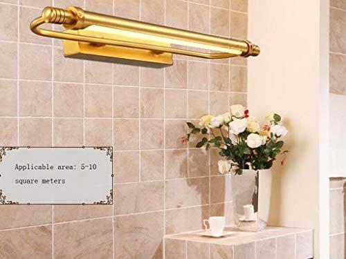 LZY Mode Kreativität Spiegelleuchten Bad im europäischen Stil - Alle Lichter vor dem Spiegel aus Kupfer Einfacher Spiegel Badezimmer Ländliches Feuer vor dem - Spiegel der Scheinwerfer,66cm, -