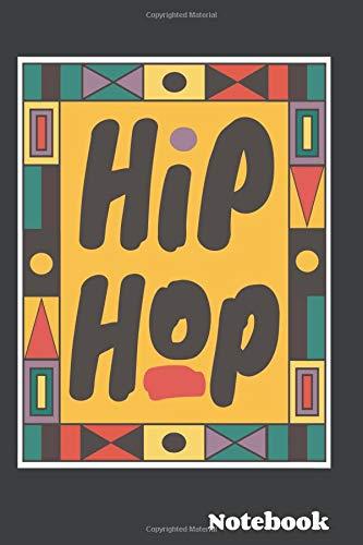Hip Hop: 80s - 90s retro vintage kente pattern dashiki 6x9 Lined notebook
