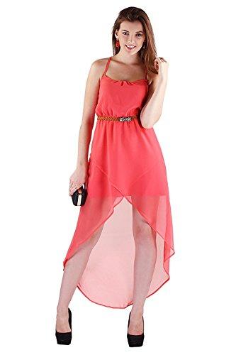 vaankosh fashion women\'s peach western wear dress for women