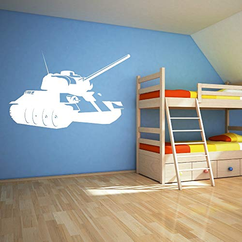 WWYJN Environmental War Military Weapons Tank Wall Stickers Vinyl DIY Boy Room Art Mural Wall Decals Home Decor  42x65cm - Peterson Tank