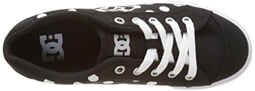 DC Shoes - Chelsea Tx Se, Basse Donna Noir (Black/White Print)
