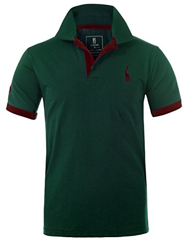Glestore Homme Polo Golf Manche Courte Couleur...