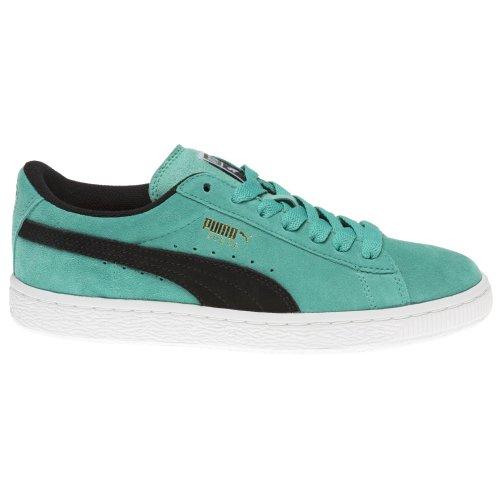 Puma Jungen Turnschuhe Wildleder Sneakers Klassisch Blau Neon Blaugrün / Schwarz