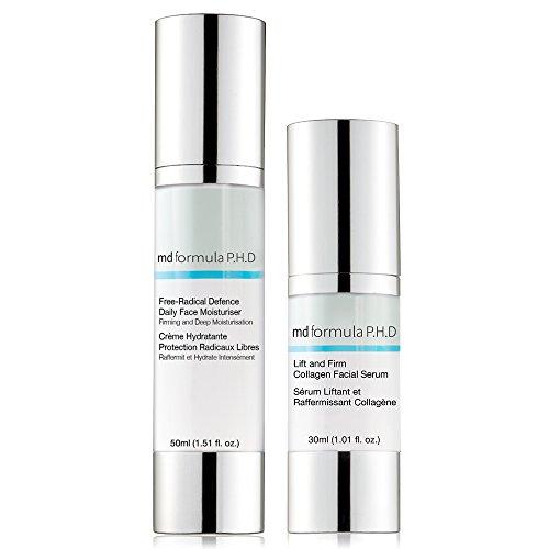 Firma Feuchtigkeit (MD Formula P.H.D Lift and Firm Collagen Facial Serum, Free Radical Defence Daily Moisturiser, 1 Stück)
