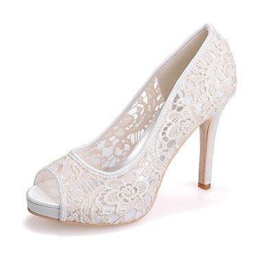 RTRY Donna Tacco Shoesstiletto Peep Toe Sandali Matrimoni/Parte &Amp; Sera Nero/Rosa/Bianco Avorio US5 / EU35 / UK3 / CN34