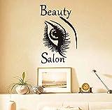 Adesivo murale alla moda Bella Big Eye Wall Sticker Bellezza Donna Sopracciglio Salon FAI DA TE Home Decor Vinile Autoadesivo Adesivo Top Selling92X58Cm