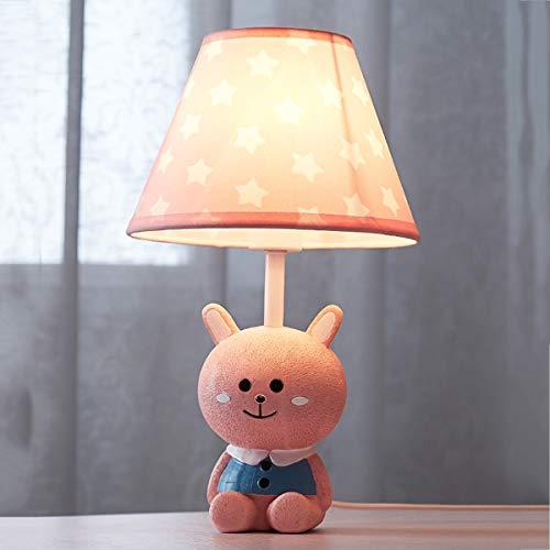 EFGS Rabbit Lámpara de Mesa Resin durmiendo Cama habitación Noche lámpara para niños, niñas, niños...