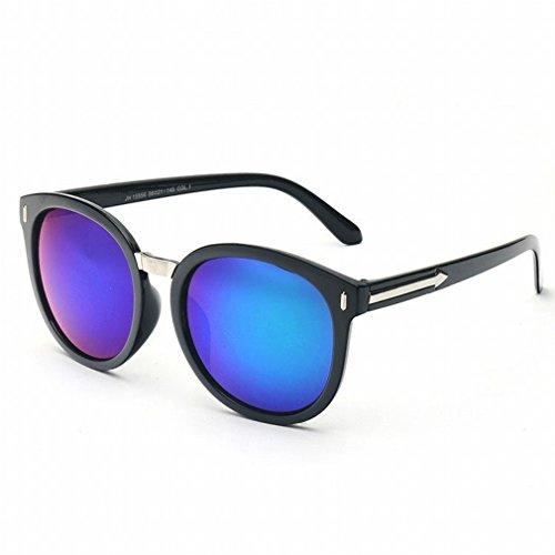 YL Outdoor Sonnenbrillen Rund Sonnenbrillen Rundes Gesicht Pfeil Gl?ser M?nnliche Augen Hd Augenschutz Brille,D,Konventionell