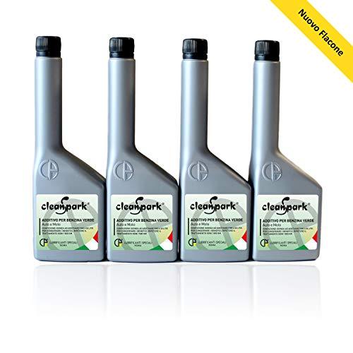 500 ML (4 Flaschen von 125 ml) CLEANSPARK multifunktionale Additiv für Benzin motoren (Autos und Motorräder).
