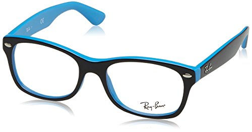 Ray-Ban Unisex-Kinder 0ry 1528 3659 48 Brillengestell, Schwarz (Top Black On Azure),