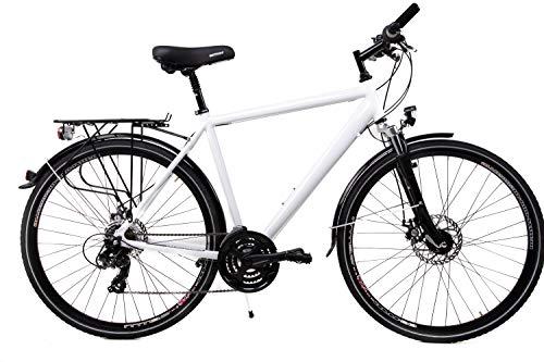 28 Zoll Alu SACHSENRING Trekking Fahrrad Shimano 21 Gang Nabendynamo Disc Weiss