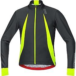 Gore Bike Wear Oxygen Windstopper - Maillot para hombre, color negro/amarillo, talla L