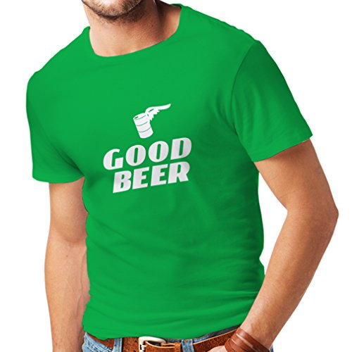 n4058-t-shirt-pour-hommes-i-need-a-good-beer-large-vert-blanc